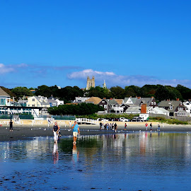 St Georges from !st Beach Newport R.I. by Martin Stepalavich - City,  Street & Park  Vistas