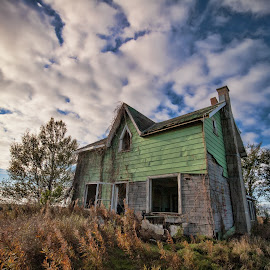Air Conditioned Beauty  by Carl Chalupa - Buildings & Architecture Decaying & Abandoned ( house that is abandoned, abandoned house )