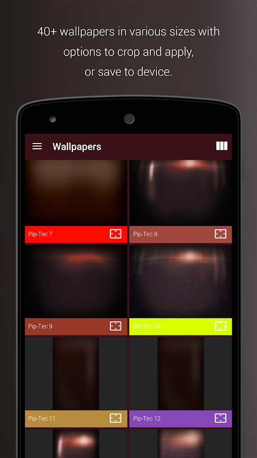 PipTec Red Icons & Live Wall Screenshot 3