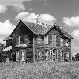 Laughter and Dinner Bells by LINDA HALLAUER - Black & White Buildings & Architecture (  )