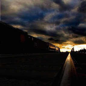 End of the Tunnel by Michael Nania - Transportation Trains