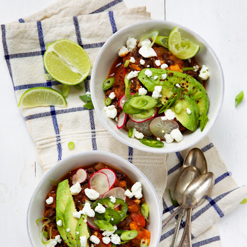 Vegetarian Sweet Potato & Black Bean Chili
