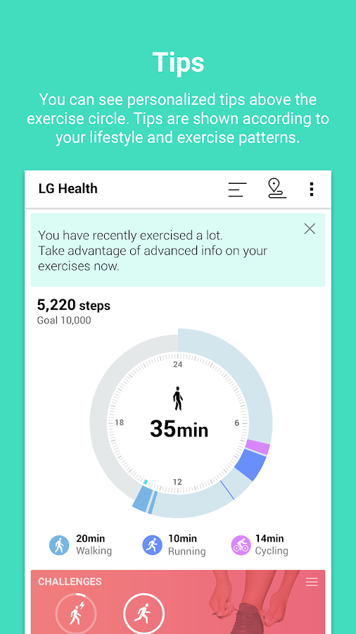 LG Health Screenshot 1