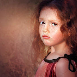 Alexia by Adina Ionut - Babies & Children Child Portraits ( girl, red hair, beauty, freckles, portrait )