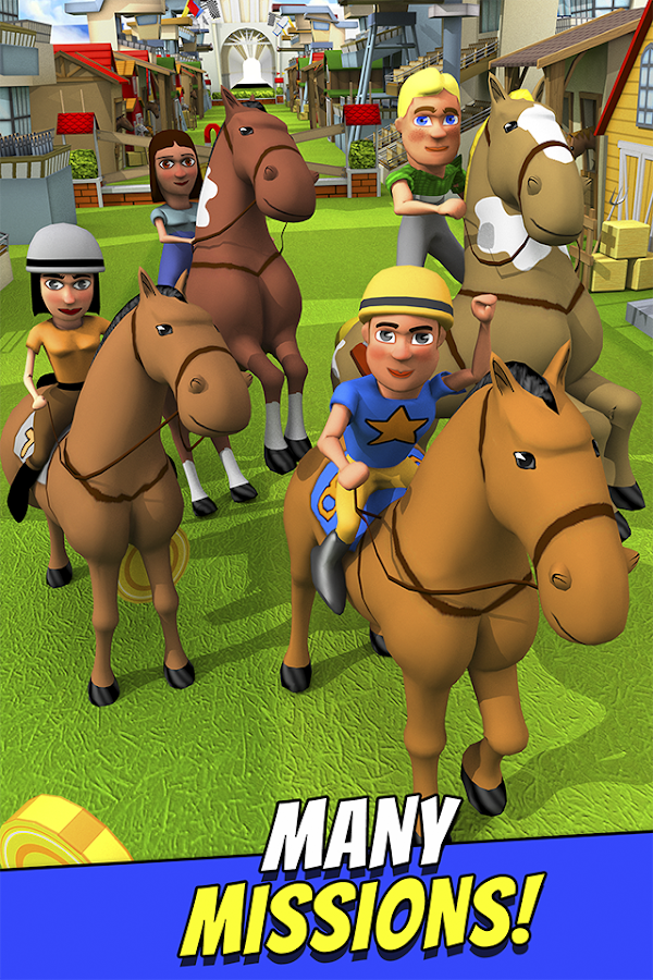 Cartoon Horse Riding Game Free Screenshot 2