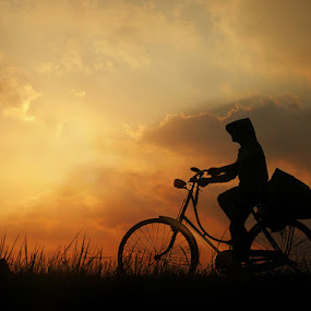 BIKE TO WORK by Edi Wibowo - Transportation Bicycles