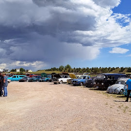 A shot of the Cars at a the Car Show by Chuck Ruffin - Instagram & Mobile Android ( cars, carshow, colorado )