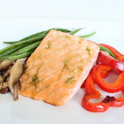 Roasted Salmon and Vegetables with Coconut Aminos