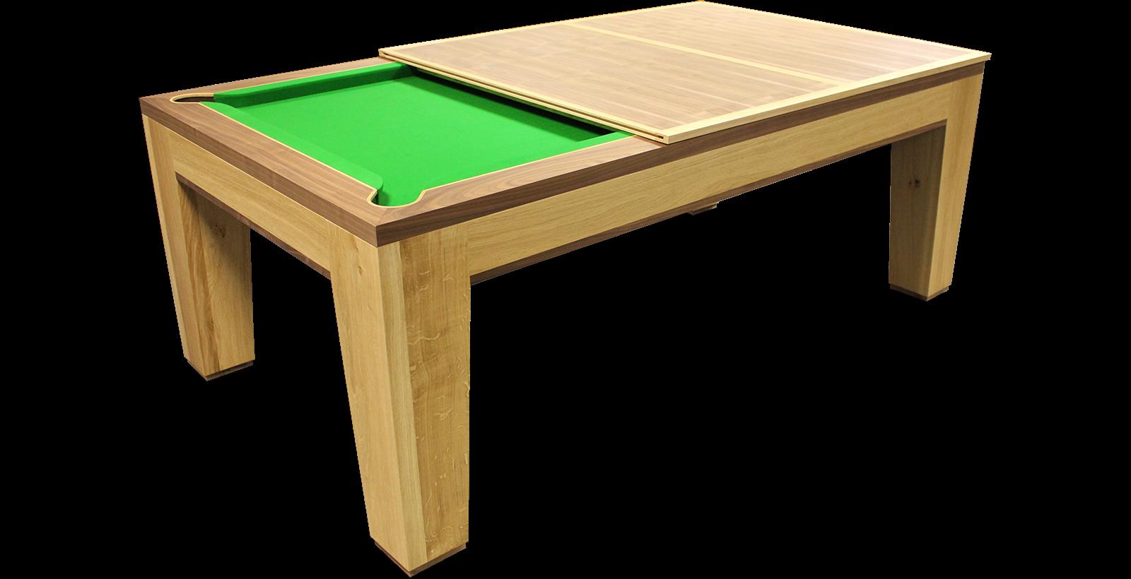 The Spartan Pool/Dining Table - Oak & American Black Walnut