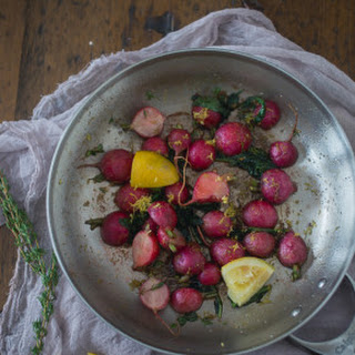 Pan Roasted Brown Butter Radishes