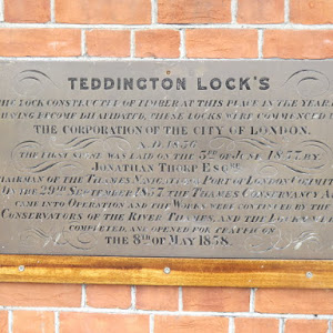 Plaque at the lockkeeper's office at Teddington Lock, at the head of the tidal Thames. © Copyright Colin Smith and licensed for reuse under this Creative Commons Licence . Submitted via Geograph
