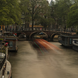 Amsterdam canals by Cora Lea - City,  Street & Park  Historic Districts
