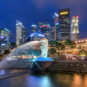 The Merlion by Glice Galac - Buildings & Architecture Other Exteriors ( skyline, merlion, singapore )