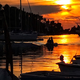 Evening by Robert Seme - Transportation Boats ( photooftheday, seascape, vacations, sunset, season, vacation, photo, sunsets, sea, photography,  )