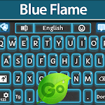 GO Keyboard Blue Flame Icon