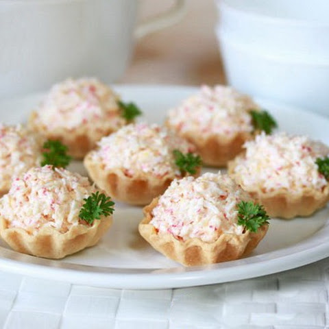 Tartlets With Crab Sticks