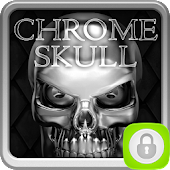 App GO Locker Chrome Skull apk for kindle fire