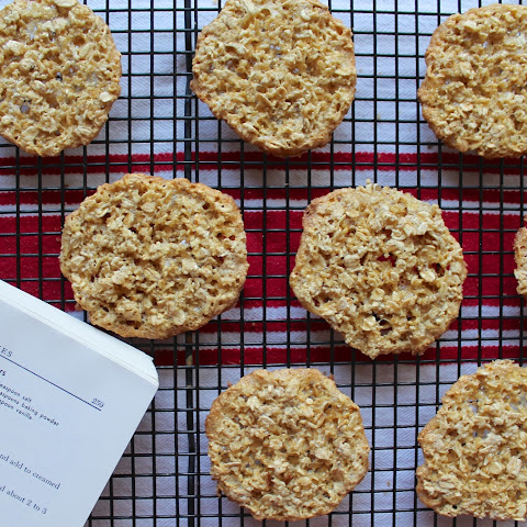 Oatmeal Lace Wafer Cookies {Amish Family Recipes}
