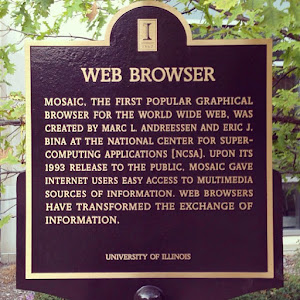 WEB BROWSER MOSAIC, THE FIRST POPULAR GRAPHICAL BROWSER FOR THE WORLD WIDE WEB, WAS CREATED BY MARK L. ANDREESSEN AND ERIC J. BINA AT THE NATIONAL CENTER FOR SUPER-COMPUTING APPLICATIONS [NCSA]. UPON ...