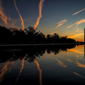 Sunrise at the Reflecting Pool by Andy Snider - Buildings & Architecture Statues & Monuments ( washington monument, washington dc )