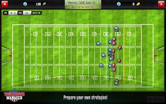 Touchdown Manager APK screenshot thumbnail 7