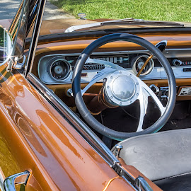 64 Falcon Dash from Behind by Pat Lasley - Transportation Automobiles ( car, automobile, falcon, dashboard, ford )