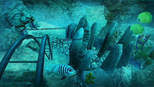 VR Roller Coaster Temple Rider apk screenshot
