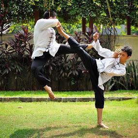kick n kick by Pandu Sinatriyo - Sports & Fitness Other Sports ( kungfu, kick, fight, martial art, duel, wushu )