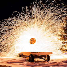 by Eric Anderson - Abstract Fire & Fireworks ( canon, winter, steel wool, snow )