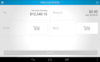 Screenshot of Mazuma Mobile Banking