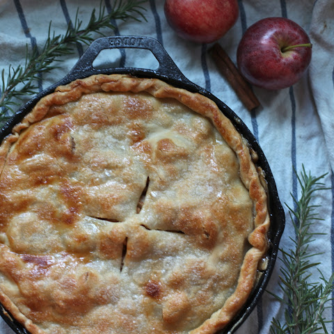 Skillet Rosemary & Apple Pie