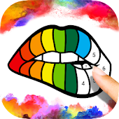 Paint Number Coloring Icon