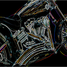 Neon Scoot by Patrixster ☠ - Digital Art Things ( colorful, neon, digital art, motorcycle, manipulation )