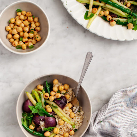 Green Bean & Purple Potato Salad