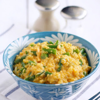 Cheesy Quinoa with Green Beans.