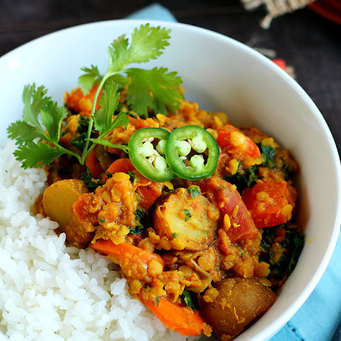 BBQ Potato & Red Lentil Curry