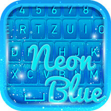 Blue Neon Keyboard Themes