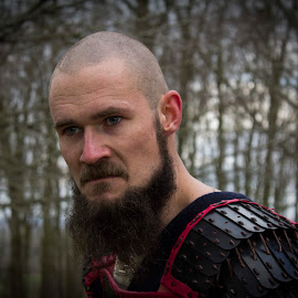 Viking warrior by Marianne Roed Jensen - People Portraits of Men ( warrior, viking, vikings, danish, denmark, man )