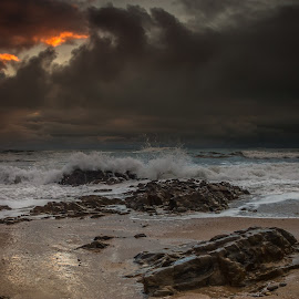 storm by Jorge Silva - Landscapes Waterscapes ( clouds, sand, sky, sea, rocks )