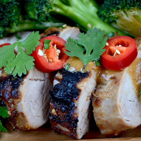Asian Peanut Pork Tenderloin