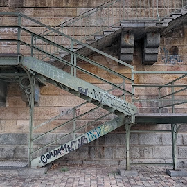 Steel stairs by Michal Fokt - Instagram & Mobile Android ( stairs, steel )
