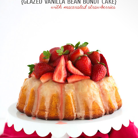 Vanilla Bean Bundt Cake {with macerated strawberries}