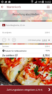 Westring Pizzaservice - screenshot