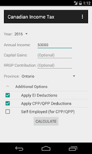 Free Download Canadian Income Tax Calculator APK