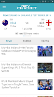 Screenshot of NDTV Cricket