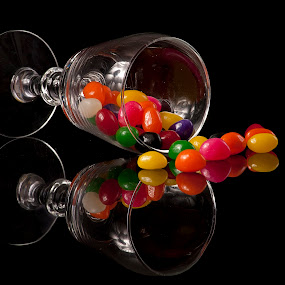 Candies by Cristobal Garciaferro Rubio - Food & Drink Candy & Dessert ( cup, glass cup, colors, reflections, candis )