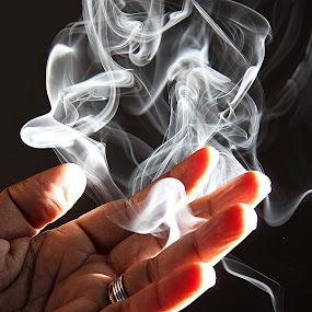 by Deepa Sarathy - Abstract Fine Art ( smoke )