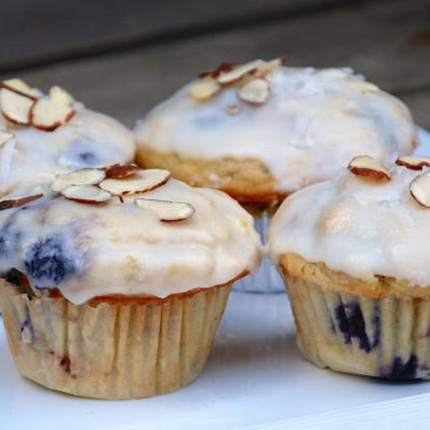 Glazed Blueberry And Mango Breakfast Muffins