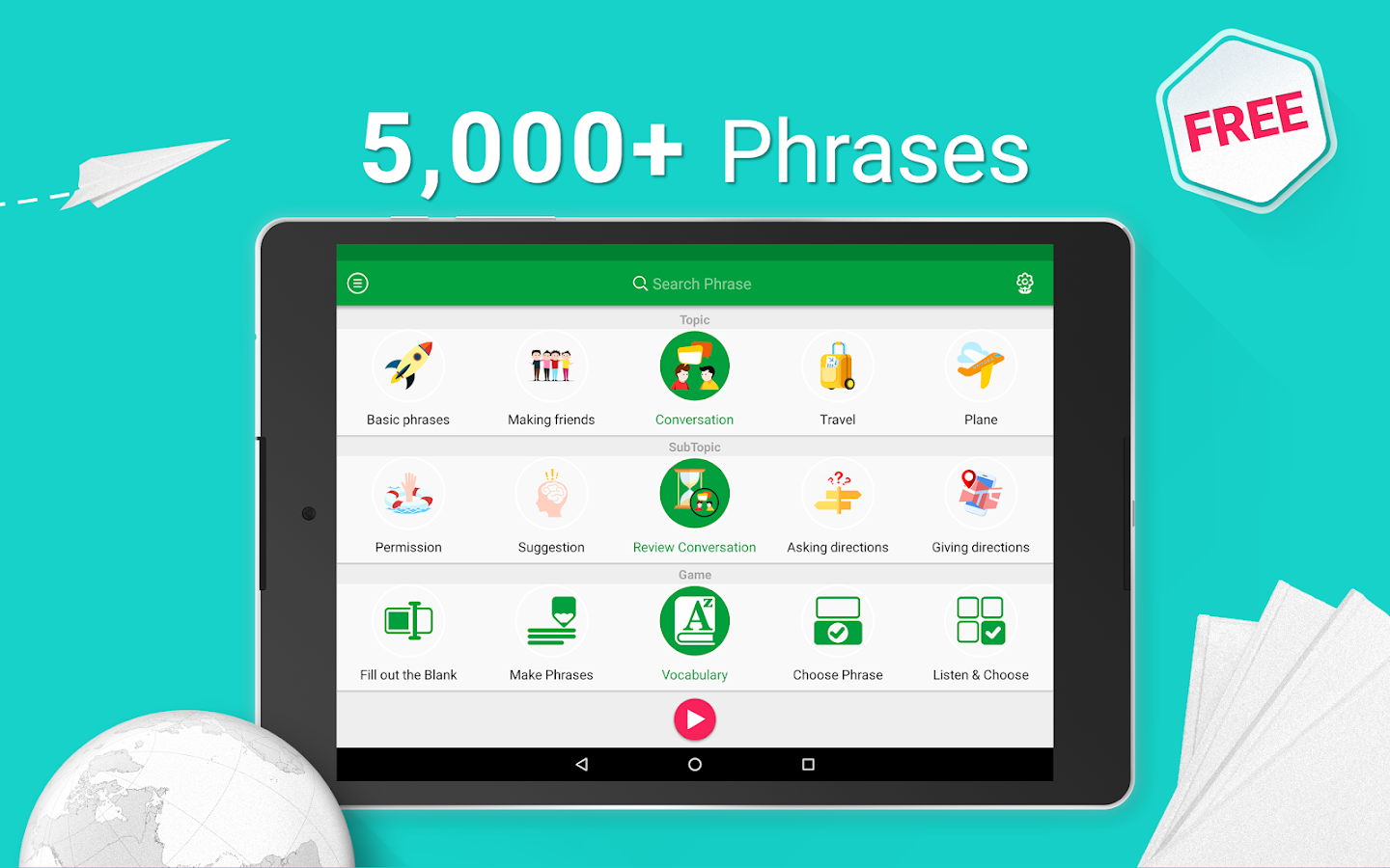 Learn Arabic - 5000 Phrases Screenshot 8
