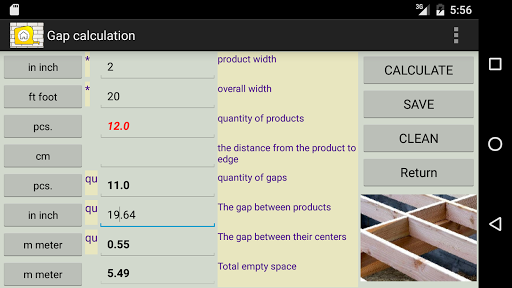 CONSTRUCTION calc - screenshot